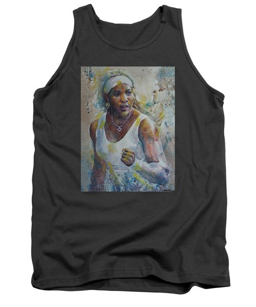 Serena Williams - Portrait 5 Tank Top by Baresh Kebar - Kibar