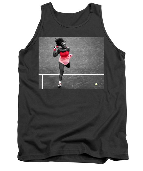 Serena Williams Strong Return Tank Top by Brian Reaves