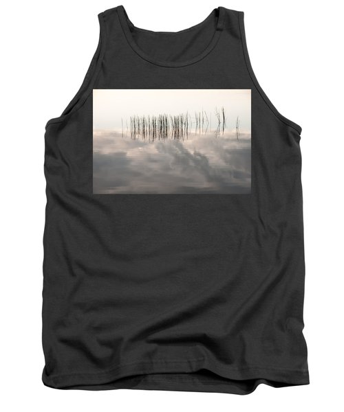 Serenity Dwells Here Where Tranquil Water Flow Cloaked  In Hues Of Love Tank Top by Jenny Rainbow