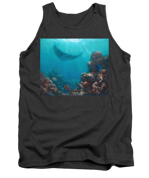 Serenity - Hawaiian Underwater Reef And Manta Ray Tank Top