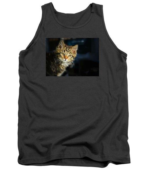 Serious Cat Portrait Tank Top