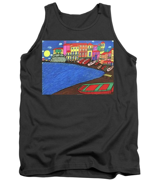 Tank Top featuring the painting Sestri Levante Italy by Jonathon Hansen
