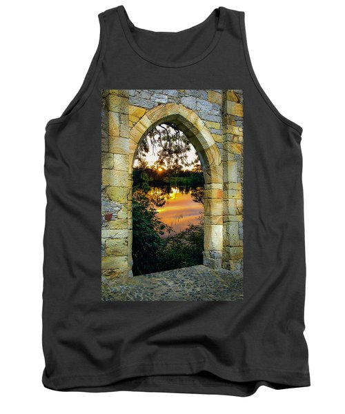 Tank Top featuring the photograph Setting Sun On Ireland's Shannon River by James Truett