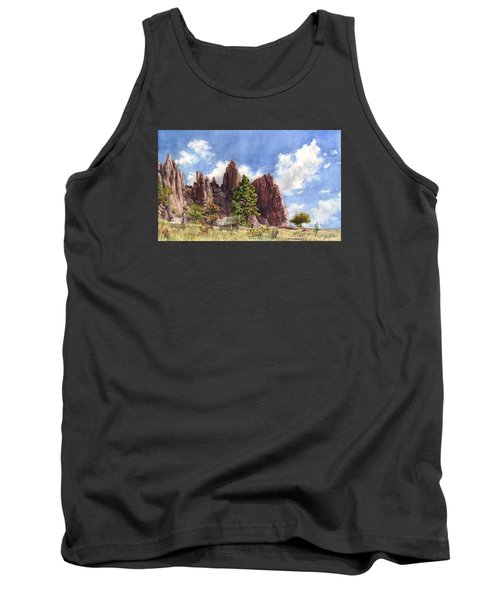 Tank Top featuring the painting Settler's Park, Boulder, Colorado by Anne Gifford
