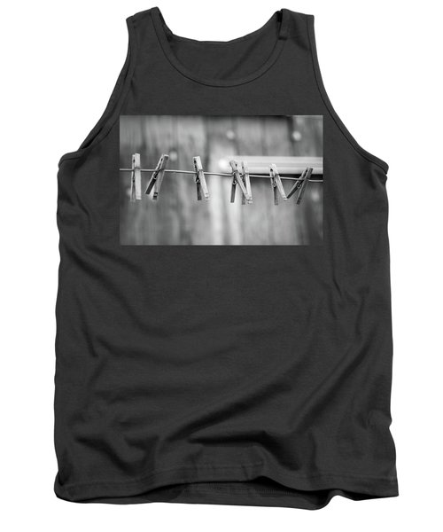 Seven Clothes Pins Tank Top by Marius Sipa