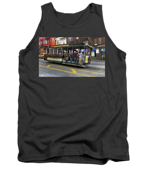 Tank Top featuring the photograph Sf Cable Car Powell And Mason Sts by Steven Spak
