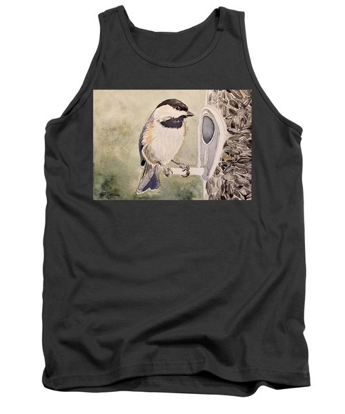 Shades Of Black Capped Chickadee Tank Top