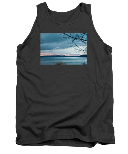 Shades Of Blue As Night Falls Tank Top by E Faithe Lester