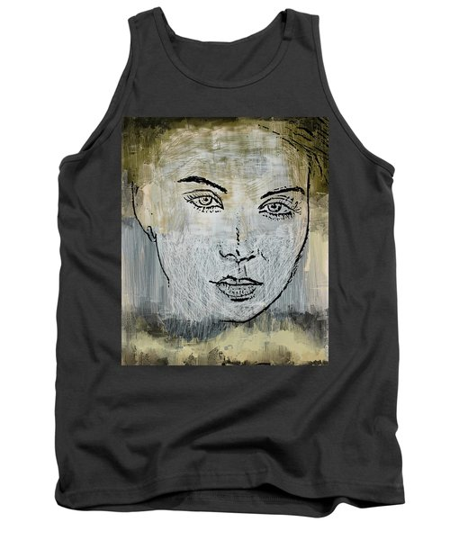 Shades Of Grey And Beige Tank Top