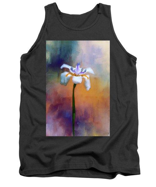 Shades Of Iris Tank Top by Carolyn Marshall
