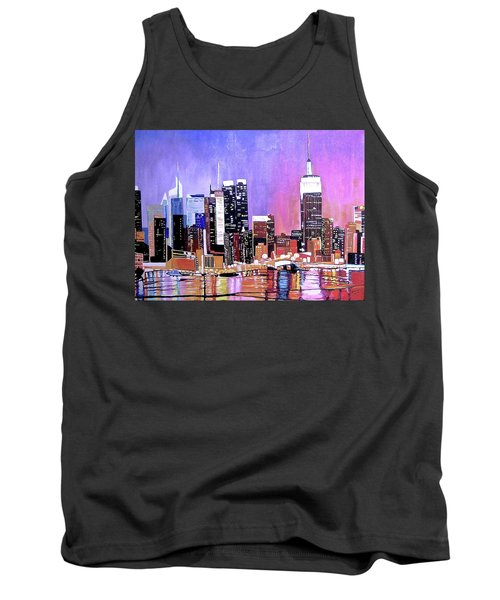 Shades Of Twilight Tank Top by Donna Blossom