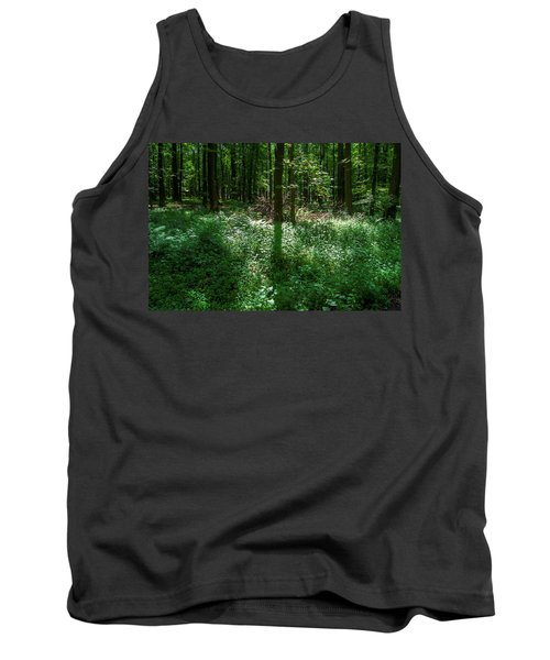 Shadow And Light In A Forest Tank Top