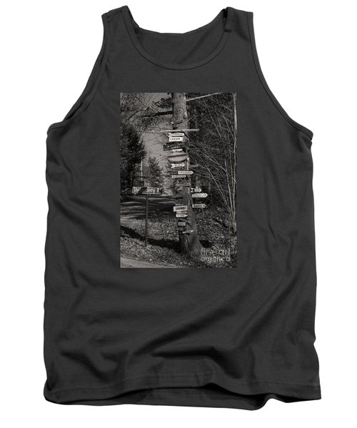 Tank Top featuring the photograph Shaker Jerry Road-moultonborough N H by Mim White