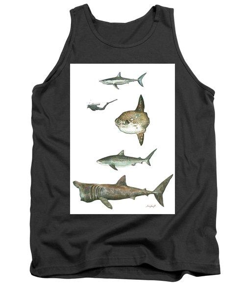 Sharks And Mola Mola Tank Top