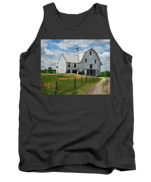 Sheep By The White Barn Tank Top