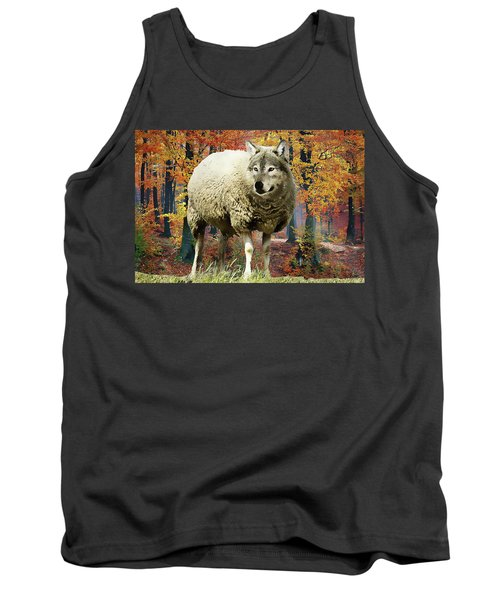 Tank Top featuring the painting Sheep's Clothing by Harry Warrick
