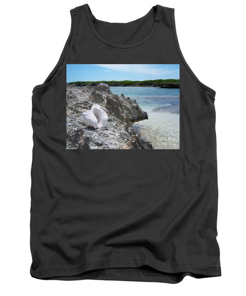 Shell On Dominican Shore Tank Top by Heather Kirk