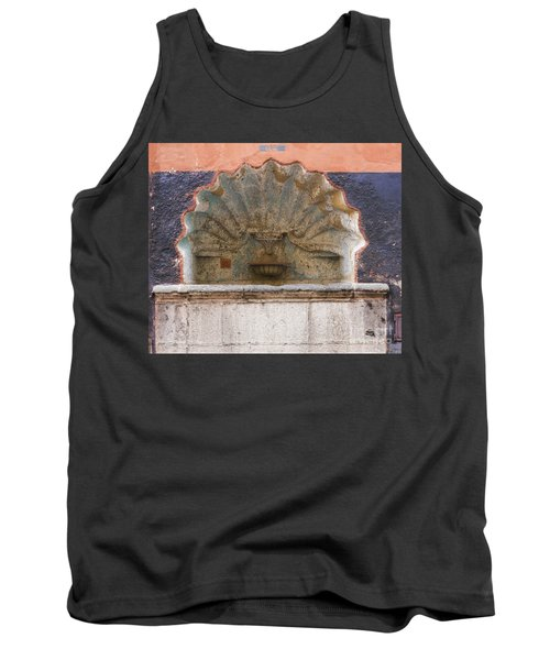 Shell Shaped Fountain In San Miguel Mexico Tank Top