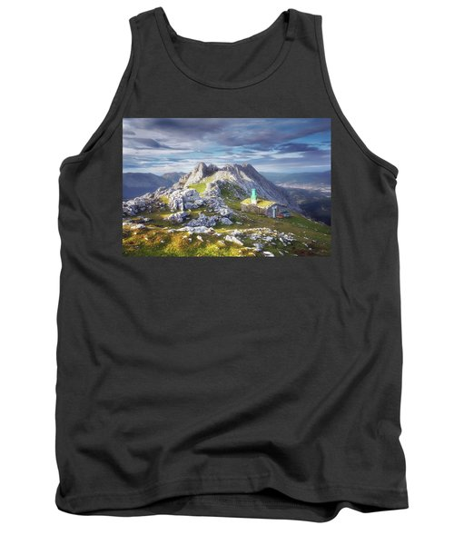 Shelter In The Top Of Urkiola Mountains Tank Top