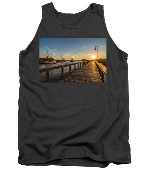 Shem Creek Pier Sunset - Mt. Pleasant Sc Tank Top