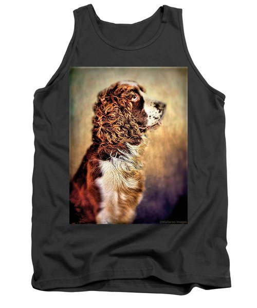 Shiloh, English Springer Spaniel Tank Top by Wallaroo Images