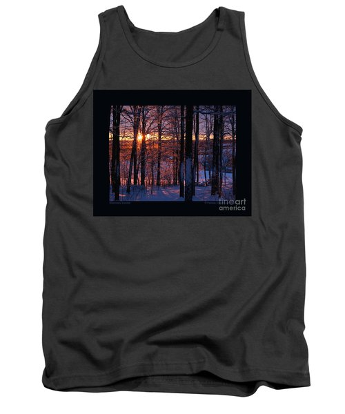 Tank Top featuring the photograph Shimmery Sunrise by Patricia Overmoyer