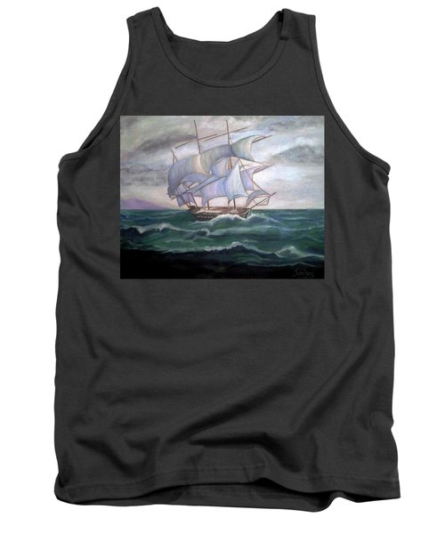 Ship Out To Sea Tank Top by Manuel Sanchez