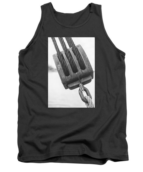 Tank Top featuring the photograph Ship Rigging by Bob Decker