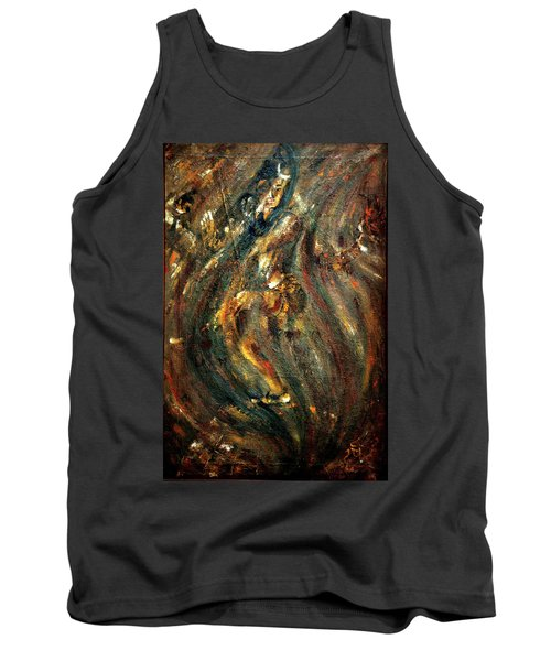 Tank Top featuring the painting Shiva Eternal Dance by Harsh Malik