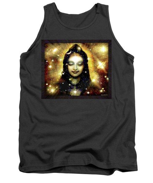 Shiva In Golden Space  Tank Top by Ananda Vdovic