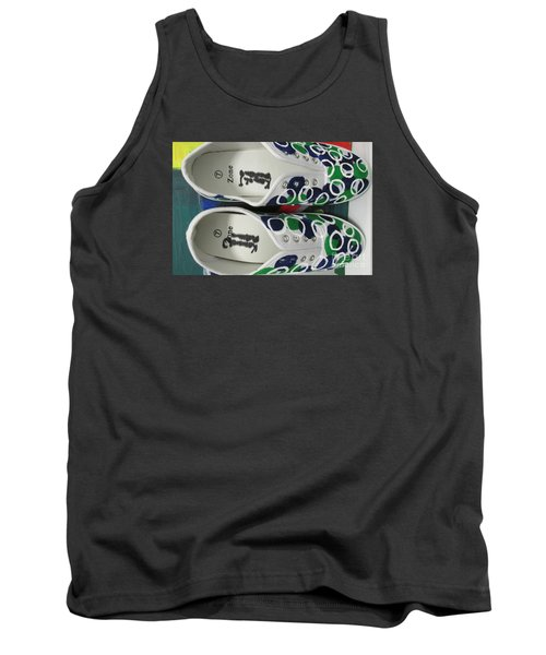 Tank Top featuring the painting Shoe Art - 009 by Mudiama Kammoh