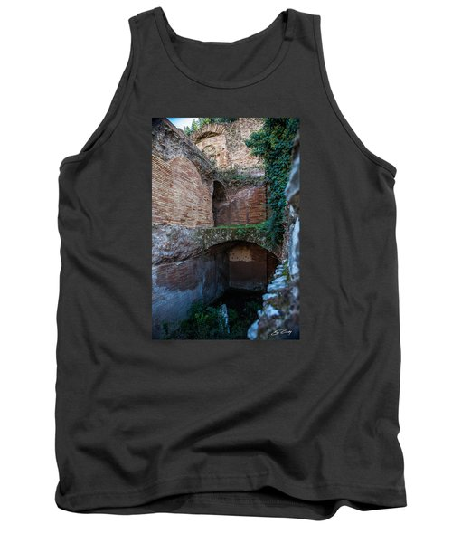 Tank Top featuring the photograph Shops Of Palatine by Ed Cilley