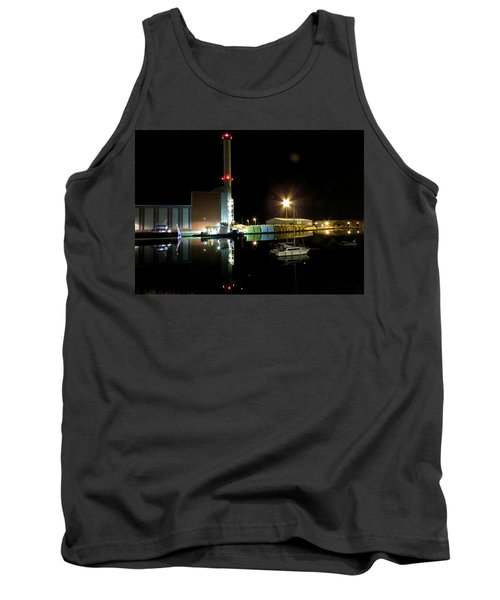 Shoreham Power Station Night Reflection 2 Tank Top