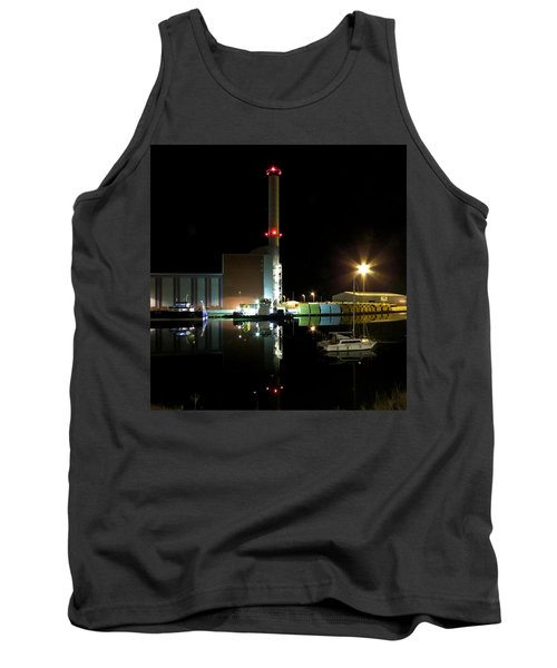 Shoreham Power Station Night Reflection Tank Top