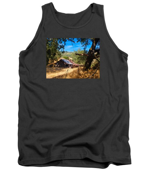 Tank Top featuring the photograph Short Legged Barn by Laura Ragland