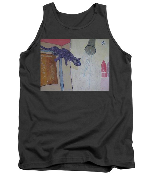 Shower Cat Tank Top