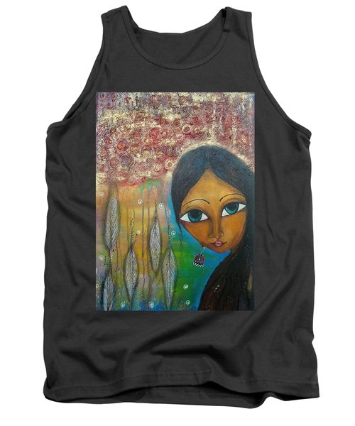 Shower Of Roses Tank Top by Prerna Poojara