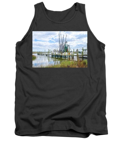 Shrimp Boats Of St. Helena Island Tank Top