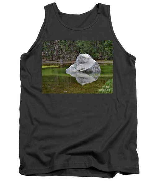 Side View Of A Rock At Mirror Lake Tank Top by Debby Pueschel