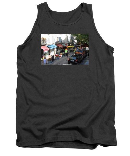 Sidewalk Cafes Tank Top by Allan Levin