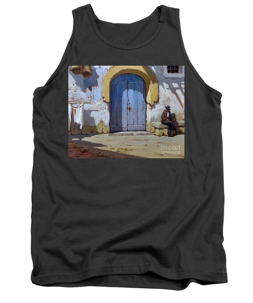Tank Top featuring the painting Siesta Time In Naples by Rosario Piazza