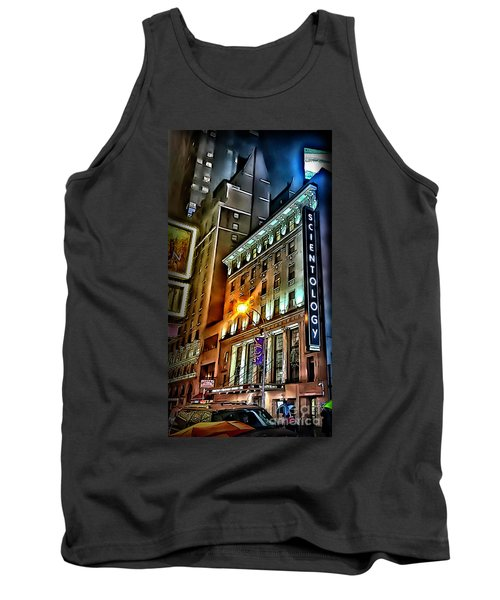 Tank Top featuring the photograph Sights In New York City - Scientology by Walt Foegelle