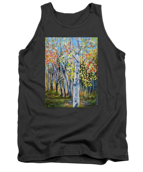 Signs Of Autumn Tank Top by Patti Gordon