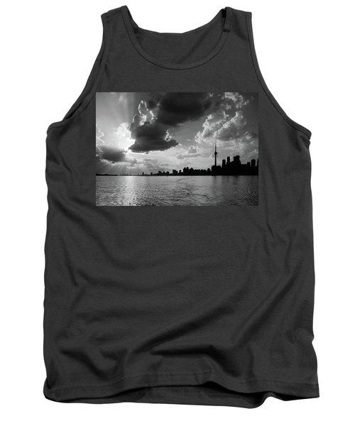 Silhouette Cn Tower Tank Top by Nick Mares