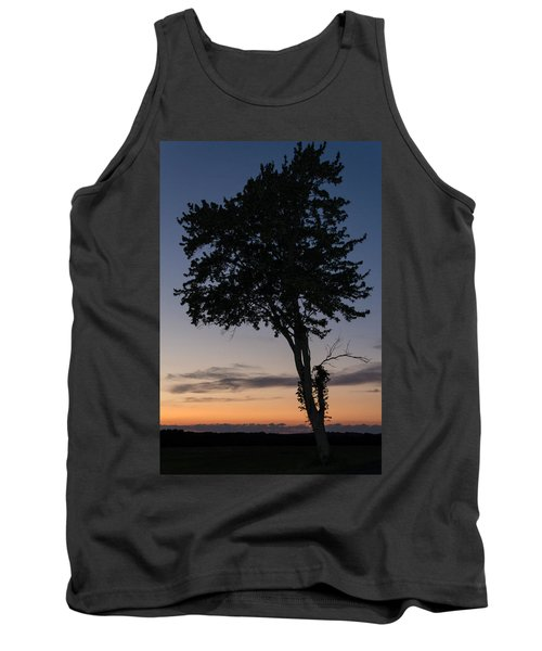 Silhouetted Tree Tank Top