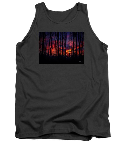 Silhouettes At Sunset Tank Top