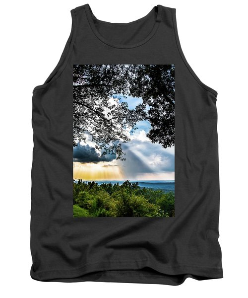 Tank Top featuring the photograph Silhouettes At The Overlook by Shelby Young