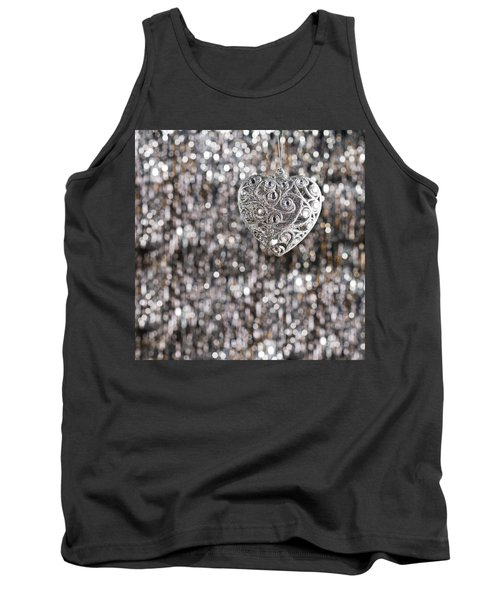 Tank Top featuring the photograph Silver Heart by Ulrich Schade