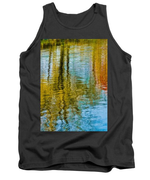 Silver Lake Autum Tree Reflections Tank Top by Michael Bessler