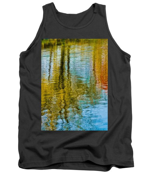 Silver Lake Autum Tree Reflections Tank Top